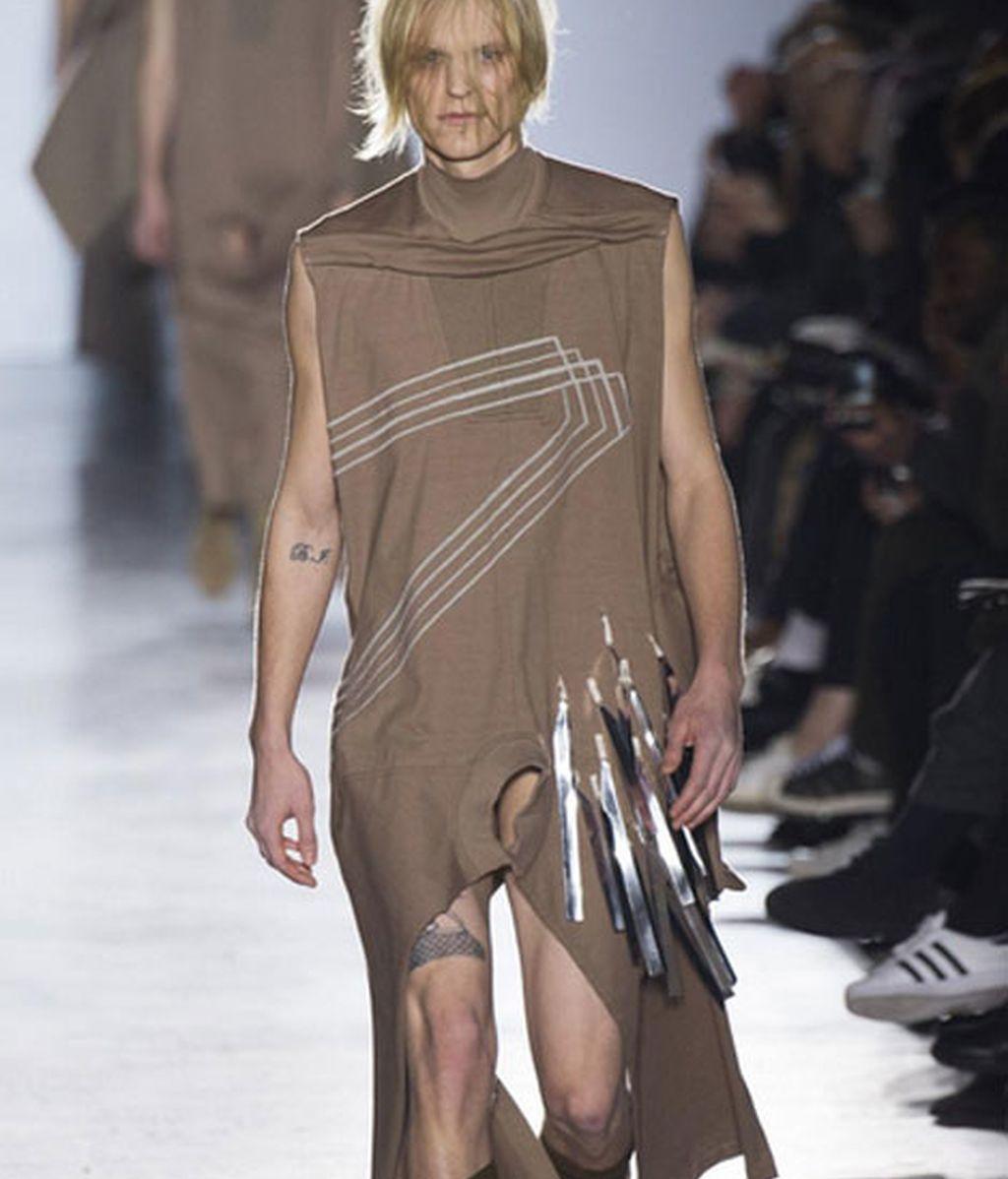 La propuesta masculina de Rick Owens en Paris Fashion Week