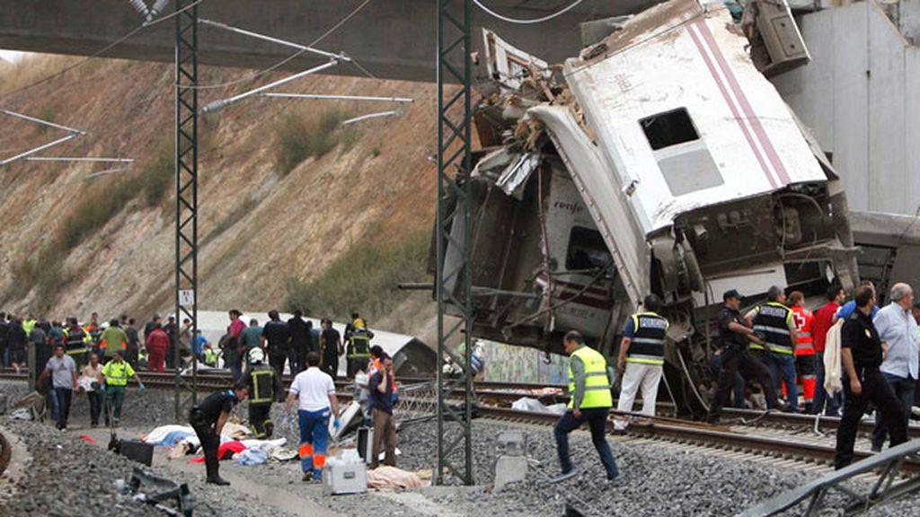 Descarrilamiento mortal de un tren en Santiago de Compostela