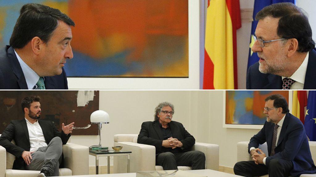 Ronda de entrevista entre Rajoy y los nacionalistas vascos y catalanes