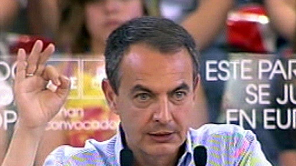 Zapatero en un mitin en Ponferrada