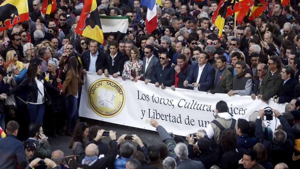 """10.000 taurinos reivindican en Valencia """"la cultura del toreo como forma de vivir"""""""