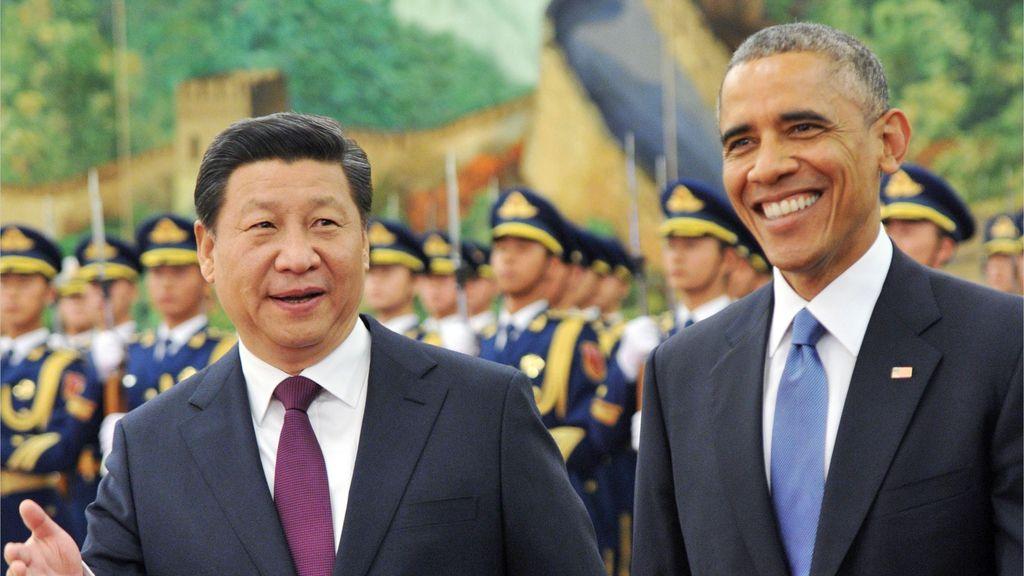 Xi Jinping recibe a Barack Obama a su llegada a China