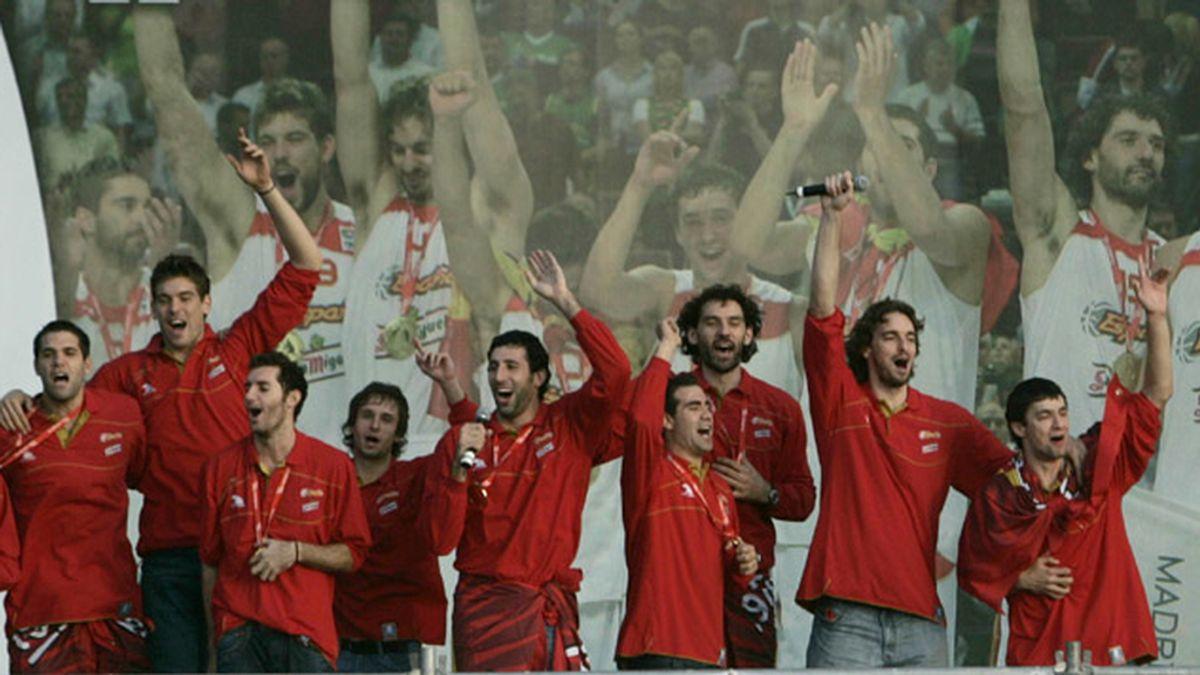 Celebración del Eurobasket