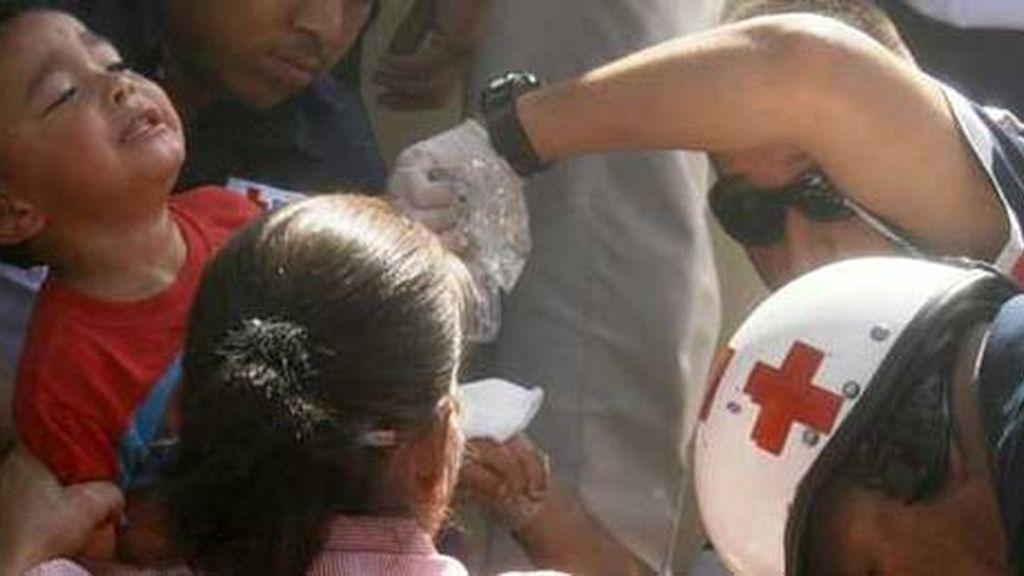 La Cruz Roja participa en la evacuación