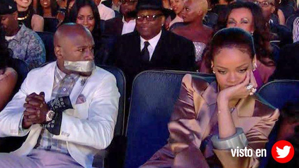 Mayweather, Rihanna, BET Awards