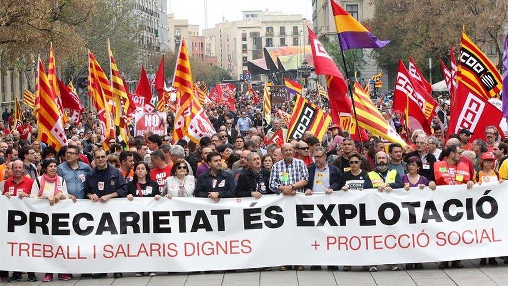 Miles de personas se manifestaron en Barcelona