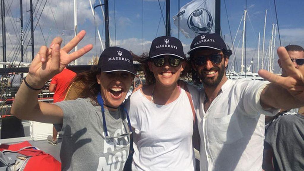 Raquel de escapada con amigos a la Copa del Rey de Vela