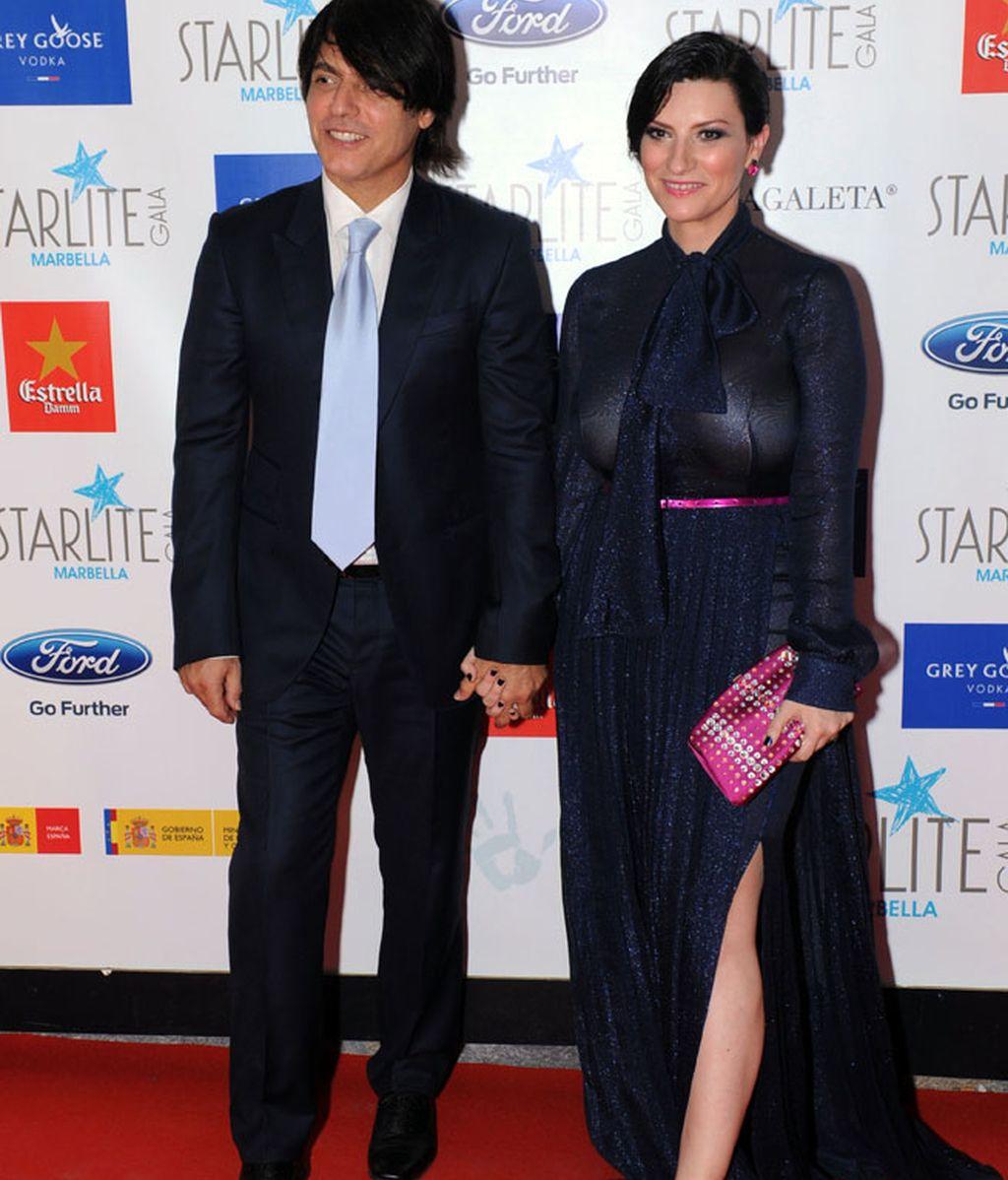 Laura Pausini acudió con su pareja, Paolo Carta