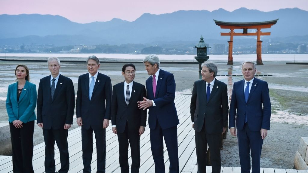 Reunión de representantes del G-7 en Japón