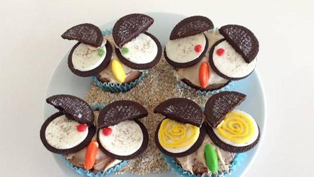 Cupcakes de Halloween con oreo