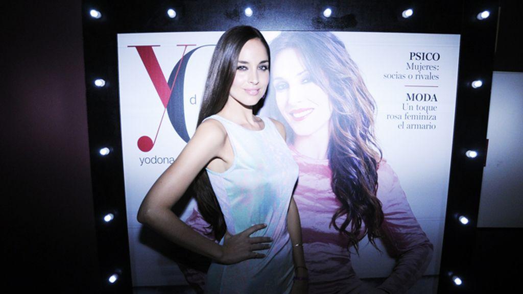 Lorena Van Heerde acudió a la fiesta en el Casino de Madrid vestida de Topshop