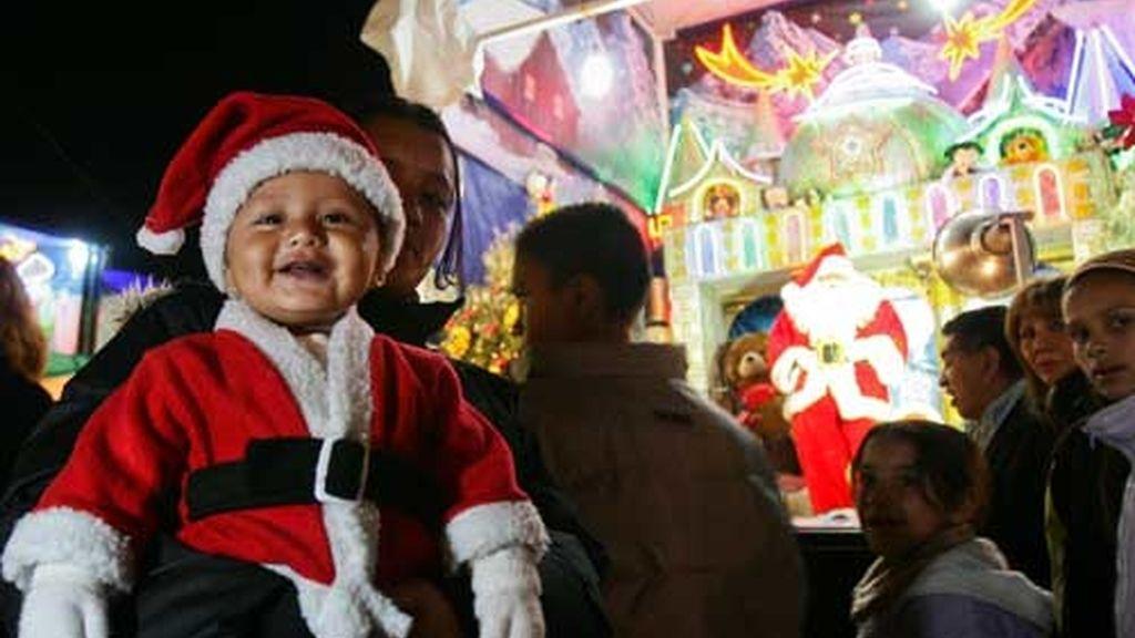 Papá Noel se cuela en México