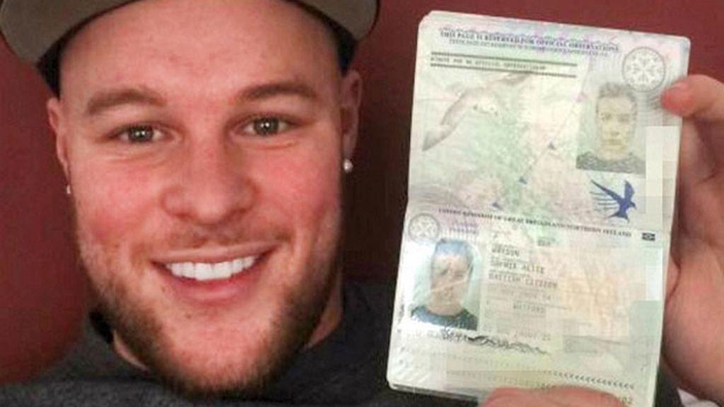 Un británico con barba logra llegar a Alemania con el pasaporte de su novia