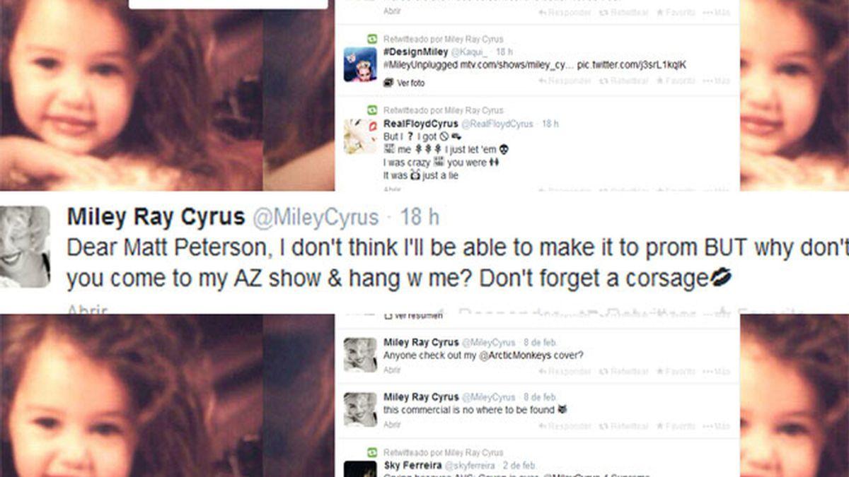 Un fan pide a Miley Cyrus que vaya con él a su graduación