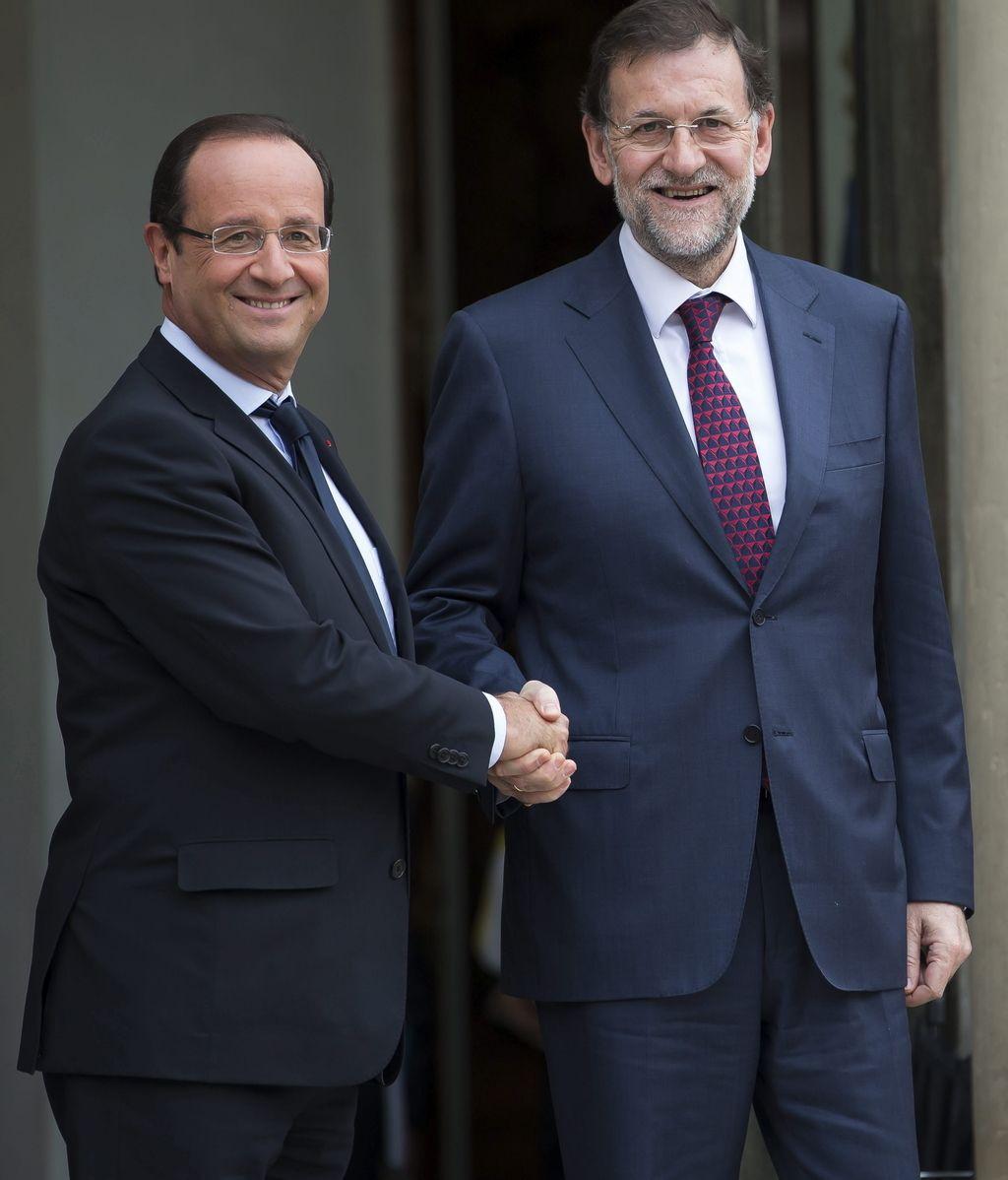 Hollande recibe a Rajoy en el Elíseo