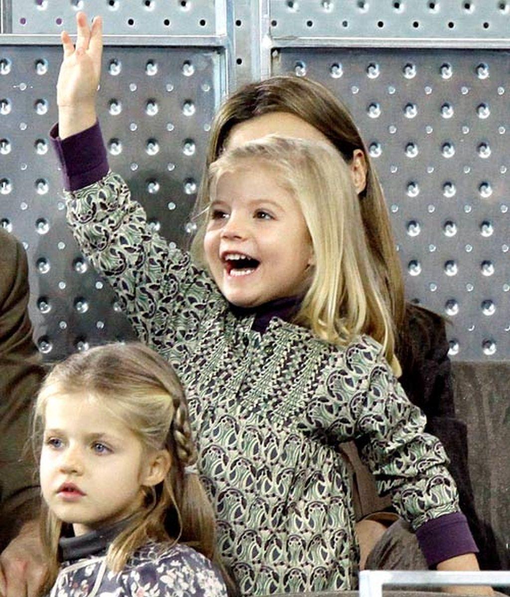 La Infanta Sofía, estrella en el tenis