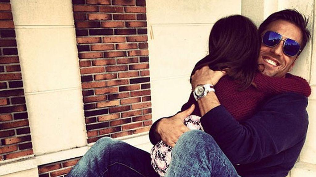 Bustamante con su hija Daniela