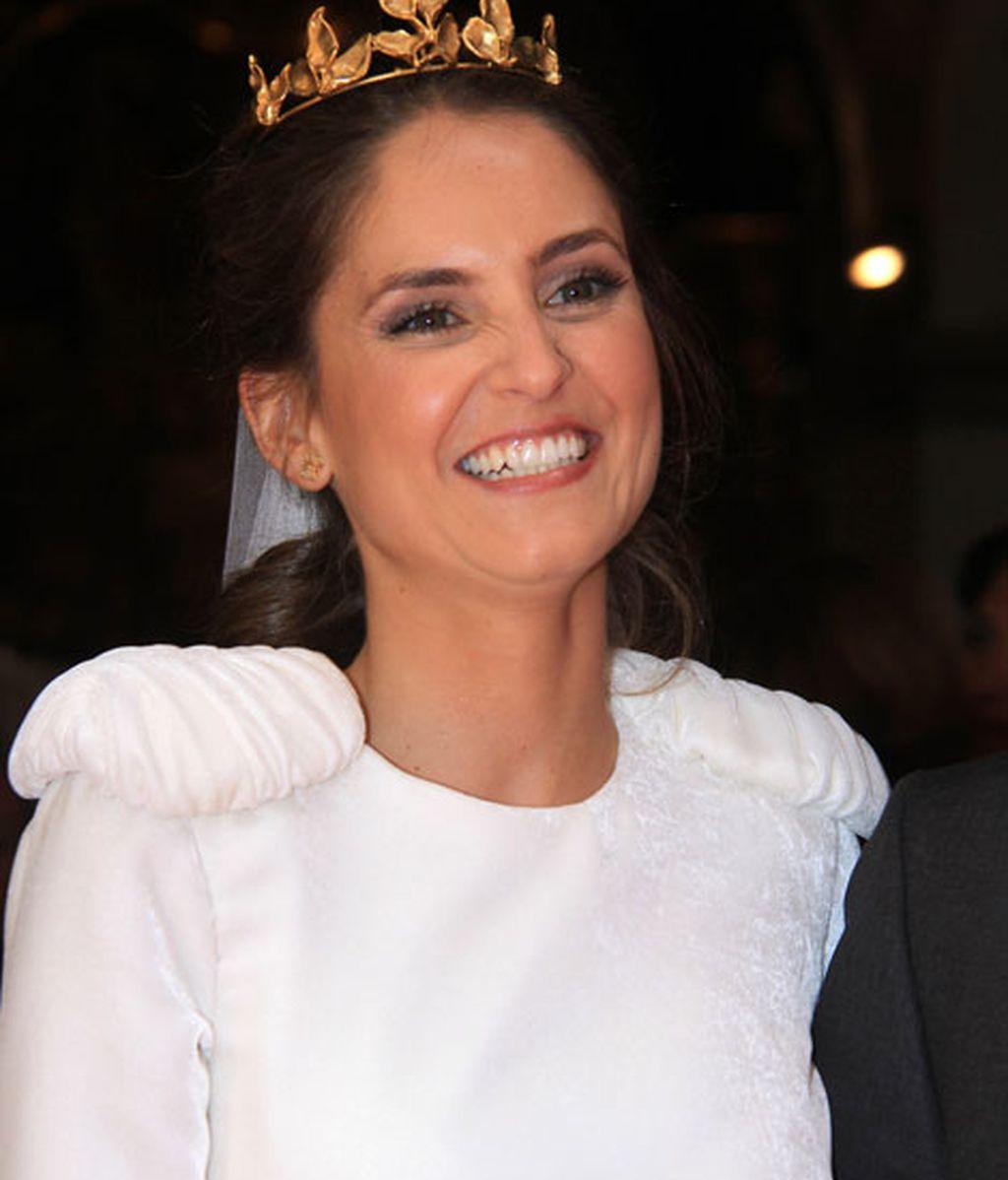 La novia llevó un vestido de Belén Miranda