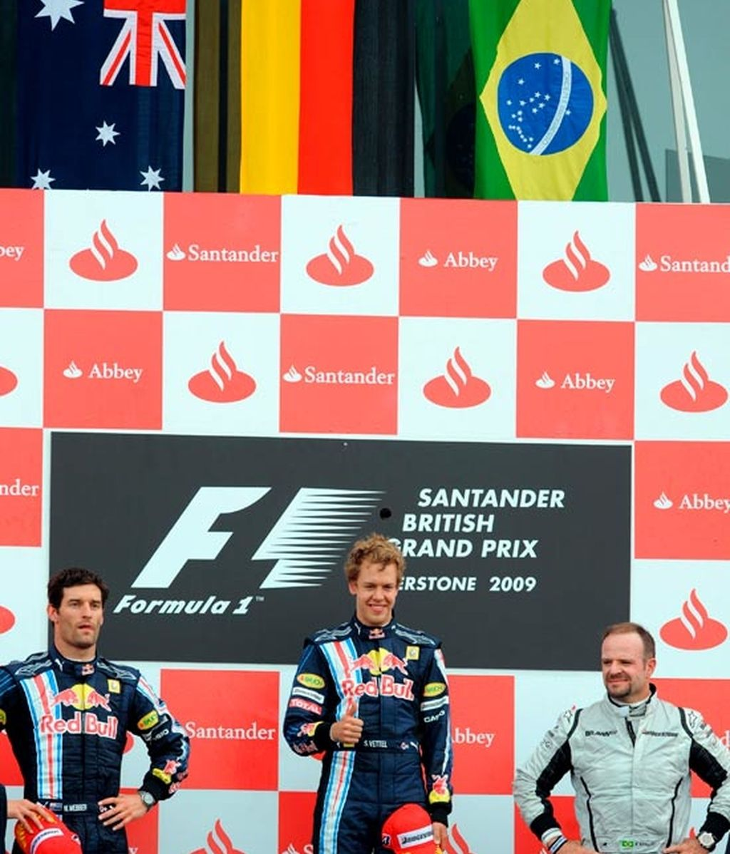 el podio en silverstone