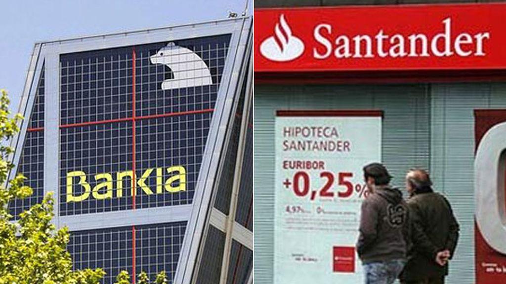 Santander y Bankia estudian la reducción de sus plantillas