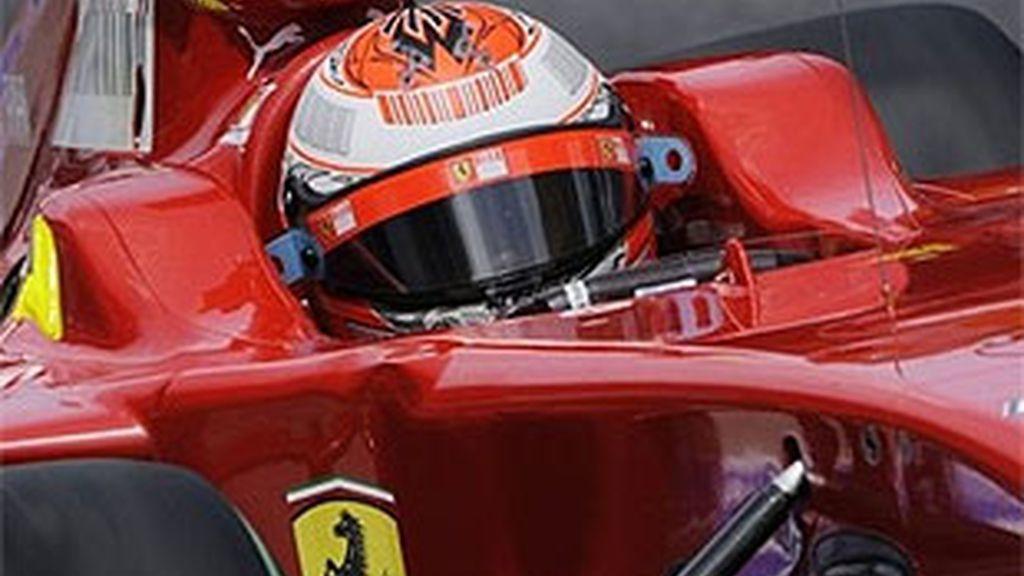 Raikkonen, durante el Gran Premio de Malasia. FOTO: AP.
