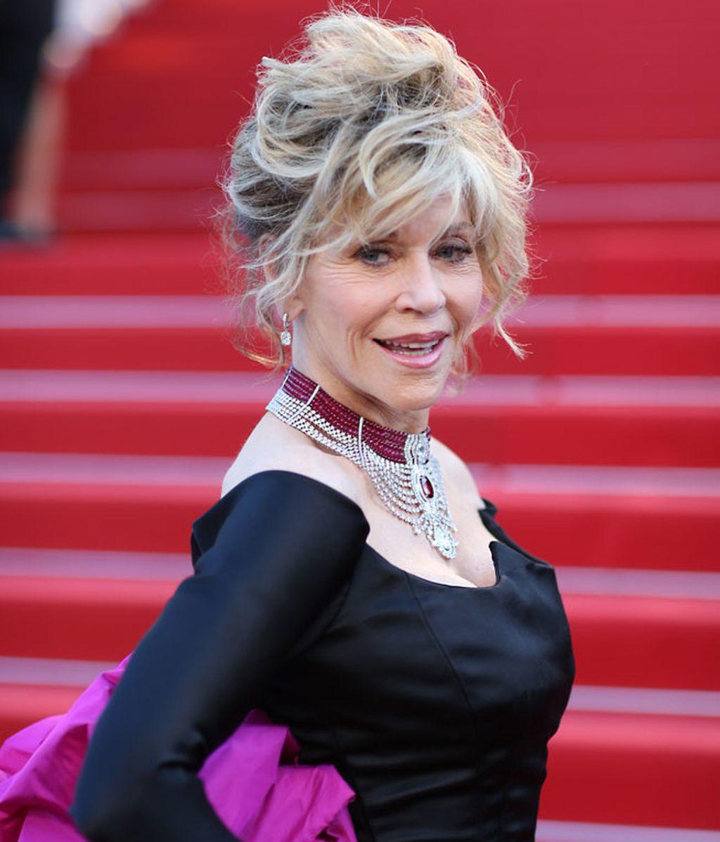 Jane Fonda, en la alfombra roja de la presentación de su pelícual 'Youth'