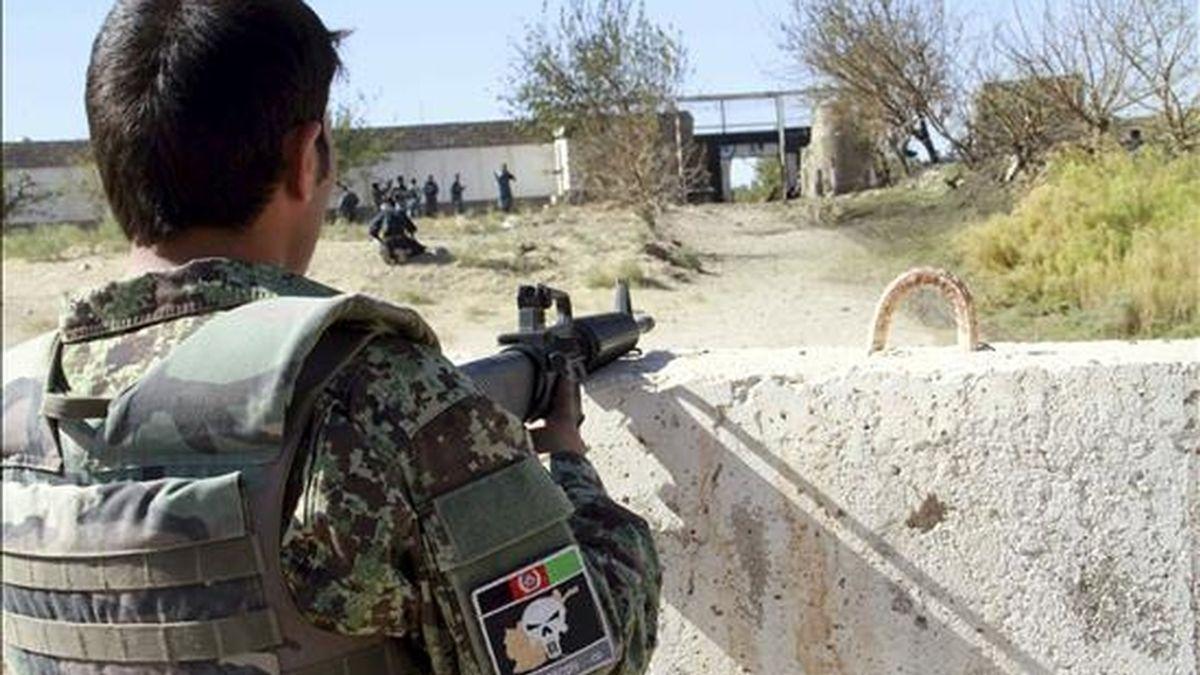 Un soldado italiano de la Fuerza Internacional de Asistencia a la Seguridad (ISAF). EFE/Archivo