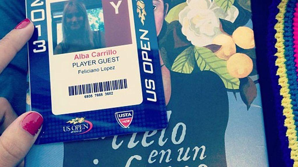 Apoyando a Feliciano en el Open USA