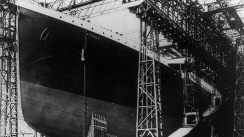 Construcción del casco del Titanic