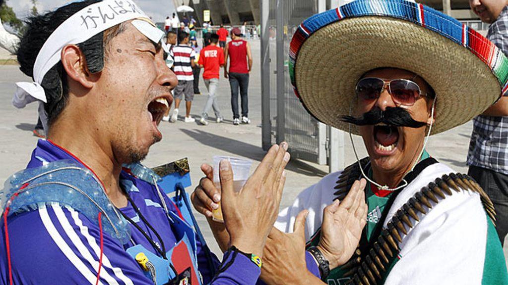 Las mejores imágenes del Japón 1-2 México