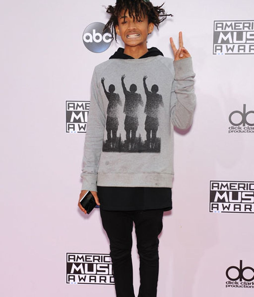 Jaden Smith, el hijo de Will Smith, no se perdió la fiesta de la música