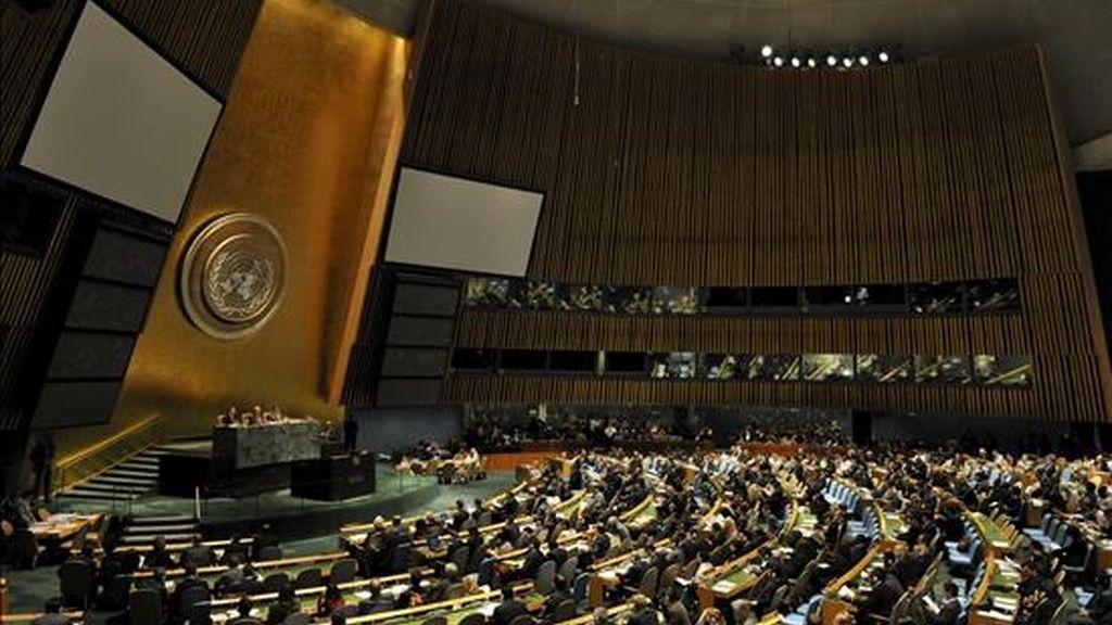 Imagen de este miércoles de la inauguración de una conferencia sobre la crisis económica y su impacto en el desarrollo, en la sede de Naciones Unidas en Nueva York, Estados Unidos. EFE