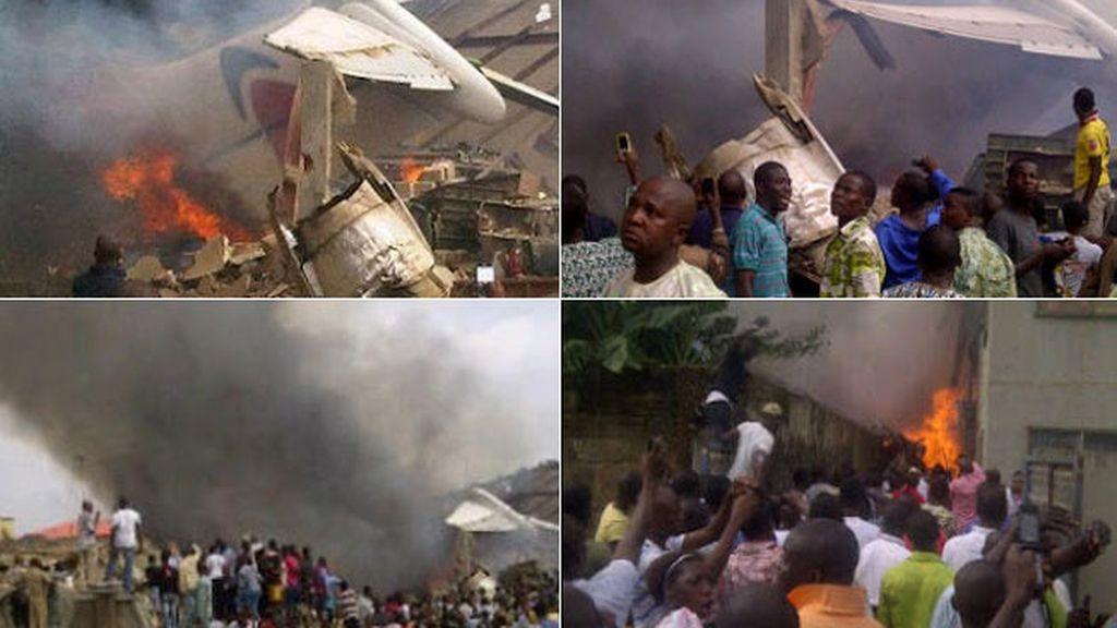 Accidente de avión en Lagos, Nigeria