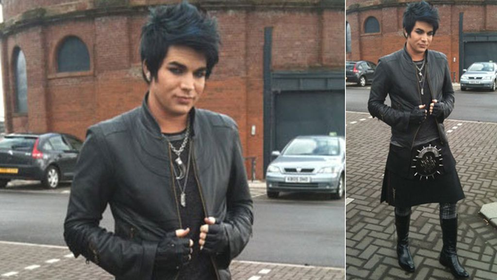 Adam Lambert y su falda-punk