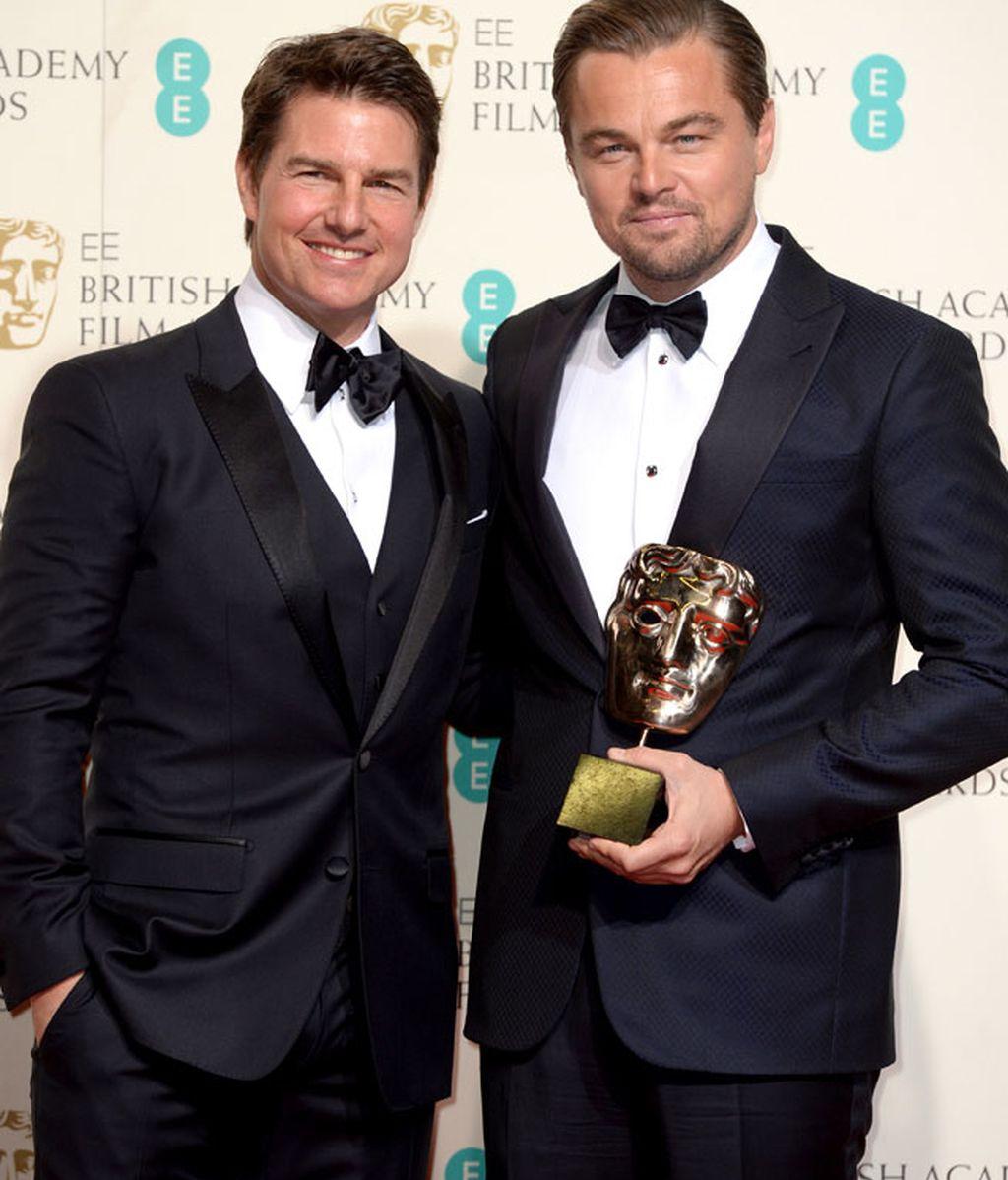 Tom Cruise y Leo DiCaprio se sumaron a la moda de la pajarita