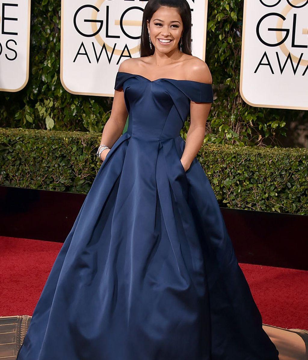 Gina Rodriguez vestida de Zac Posen