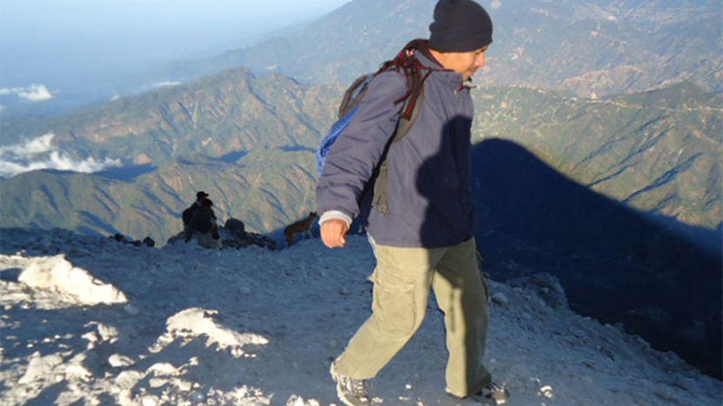 Volcán Tajumulco en Guatemala
