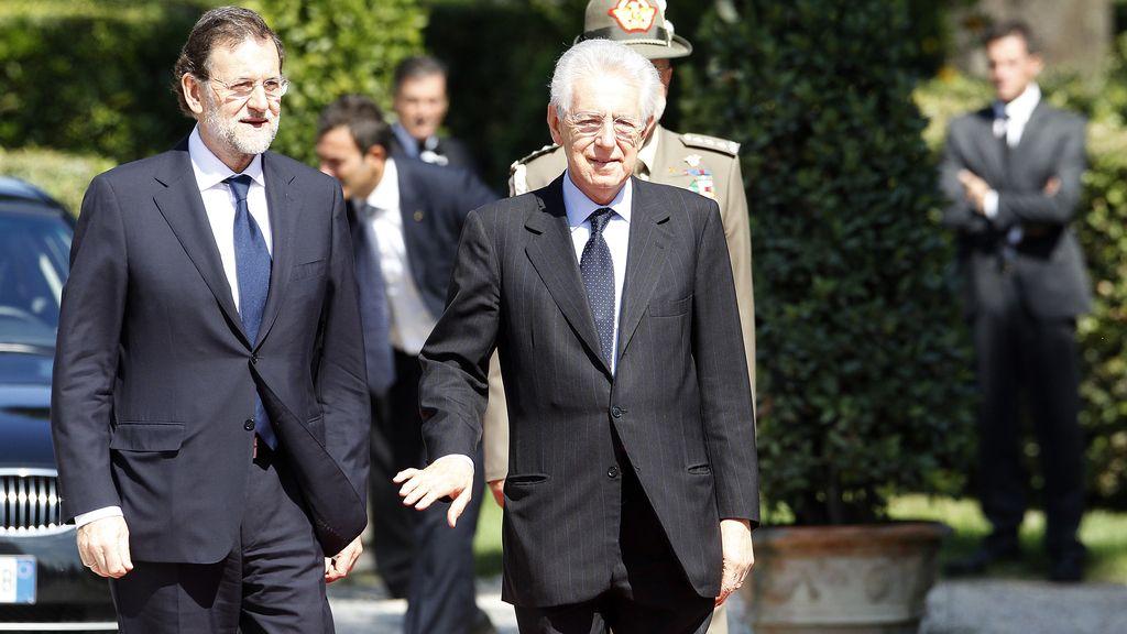 Mariano Rajoy y Mario Monti en Roma