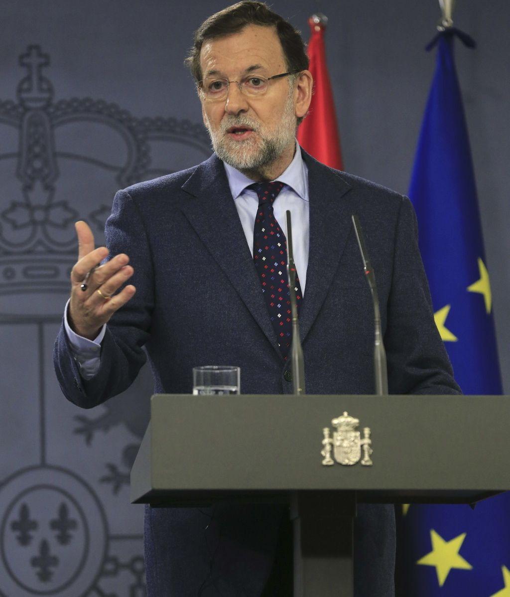 Mariano Rajoy, presidente del Gobierno, en rueda de prensa