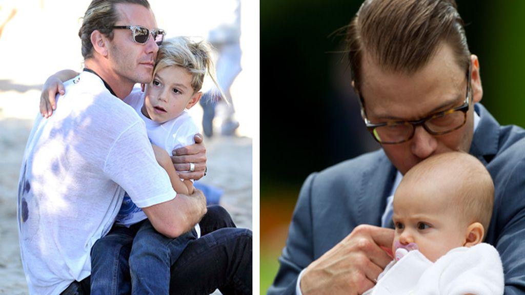 Gavin Rossdale y el Príncipe Daniel con sus hijos