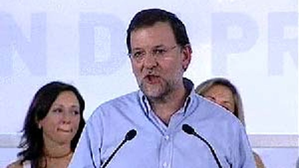 Mariano Rajoy durante su intervención en Murcia. Foto: Atlas