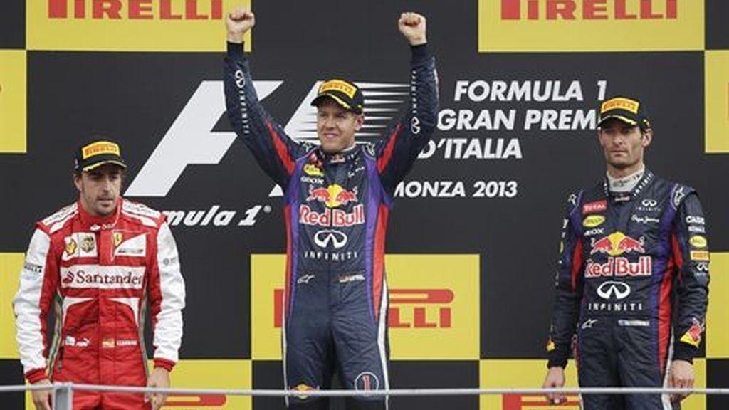 Vettel gana en la casa de Ferrari y Alonso queda segundo