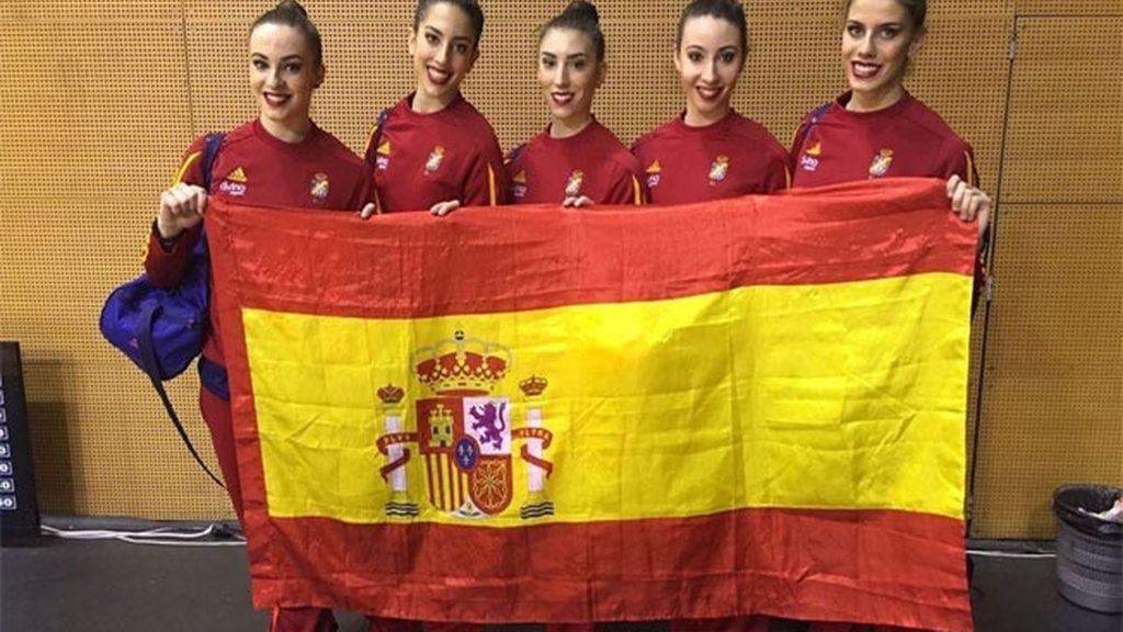 Bronce para la gimnasia rítmica española