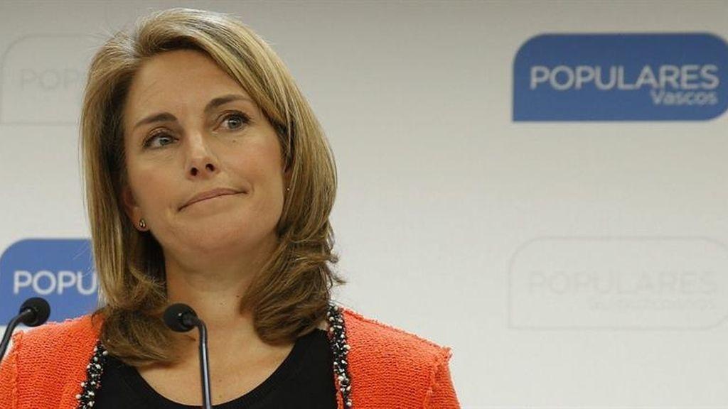 Arantza Quiroga presenta su dimisión como presidenta del PP vasco