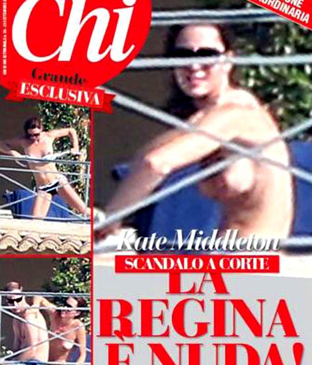 La portada del semanal italiano está a la venta desde este lunes con las polémicas imágenes de Kate Middleton y otras fotos inéditas.