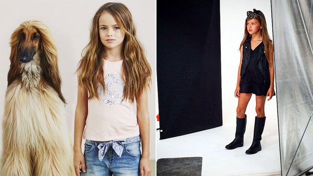 Su madre apuntó a Kristina a una escuela de jóvenes modelos a los tres años
