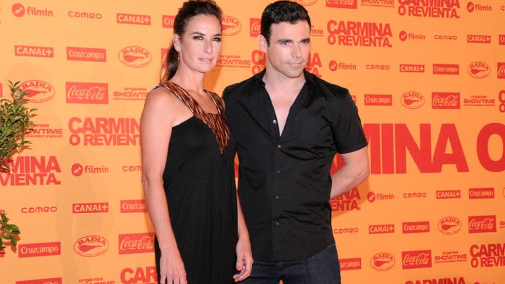 Belén López y su pareja
