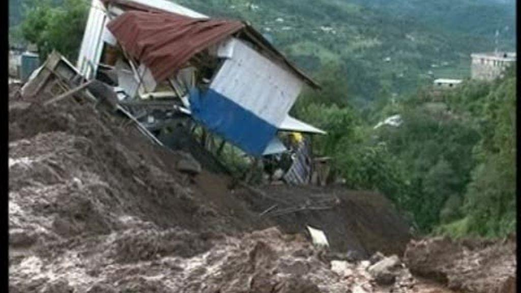 Inundaciones en México y Colombia