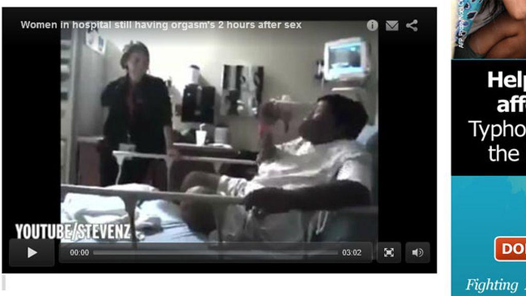 En urgencias por dos horas de orgasmo