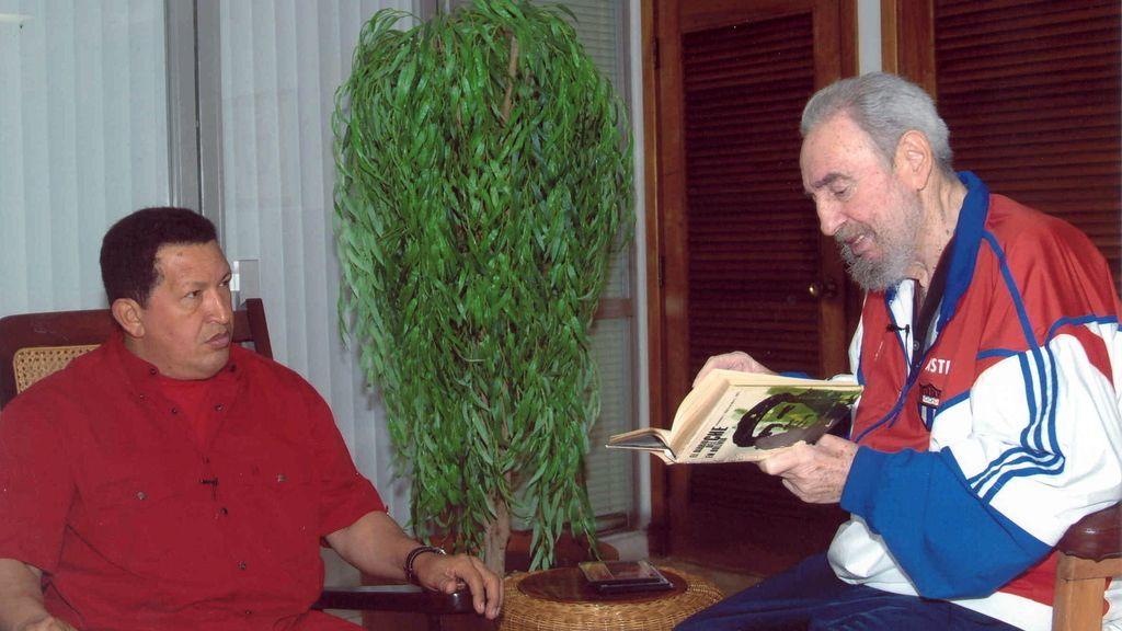 Castro, con Hugo Chávez